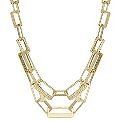 The Collection - Textured link double row necklace