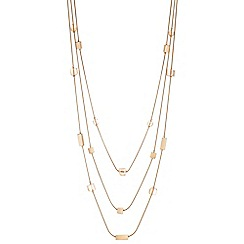 The Collection - Cube multi row rope necklace
