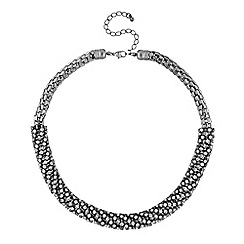 The Collection - Diamante crystal tube collar necklace