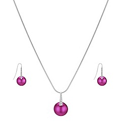 The Collection - Pink button pearl jewellery set