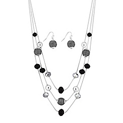 The Collection - Monochrome multi row sphere jewellery set