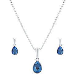 The Collection - Crystal pear drop jewellery set
