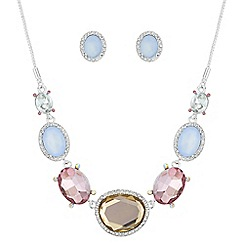The Collection - Faceted crystal halo jewellery set