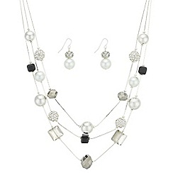 The Collection - Monochrome multi row jewellery set