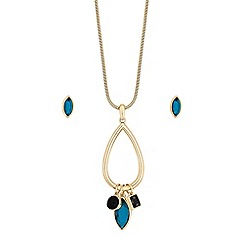 The Collection - Gold crystal charm jewellery set