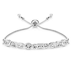The Collection - Crystal shape toggle bracelet