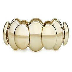 The Collection - Layered oval stretch bracelet