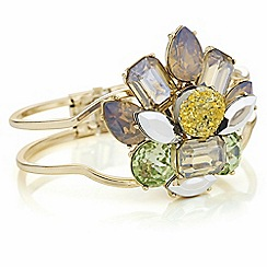 The Collection - Layered druzy crystal bangle