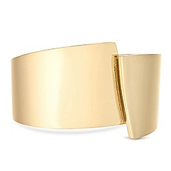 The Collection - Gold cross over statement bangle