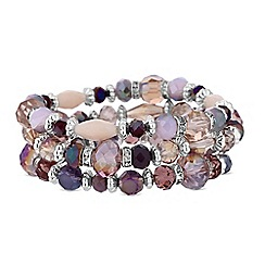 The Collection - Silver crystal beaded bracelet set