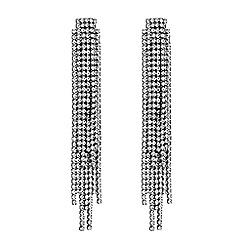 J by Jasper Conran - Silver crystal diamante layered drop earrings