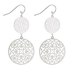 J by Jasper Conran - Designer filigree disc drop earrings
