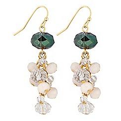 J by Jasper Conran - Designer beaded cluster drop earrings