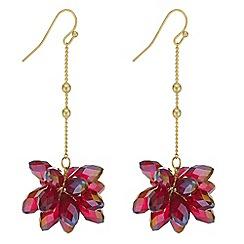 J by Jasper Conran - Designer beaded flower drop earrings