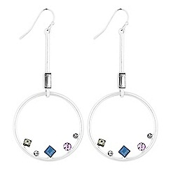 J by Jasper Conran - Designer crystal hoop drop earrings