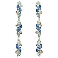 J by Jasper Conran - Designer crystal linear drop earrings
