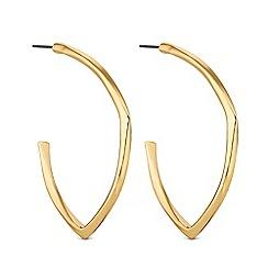 J by Jasper Conran - Gold angular hoop earrings