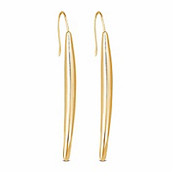 J by Jasper Conran - Designer gold curved stick drop earring