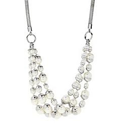 J by Jasper Conran - Designer silver capped pearl multi row necklace