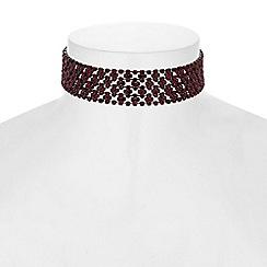 J by Jasper Conran - Crystal diamante choker necklace
