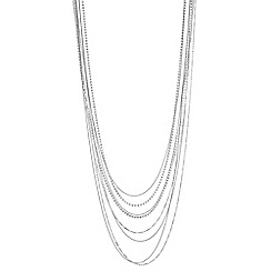 J by Jasper Conran - Designer multi row diamante long necklace