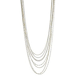J by Jasper Conran - Designer multi row diamante long necklace