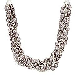 J by Jasper Conran - Designer pearl cluster twist necklace