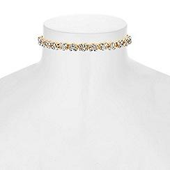J by Jasper Conran - Designer crystal cluster choker necklace