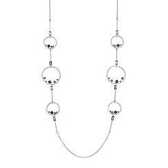 J by Jasper Conran - Designer crystal hoop rope necklace