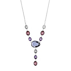 J by Jasper Conran - Designer crystal mixed shape y necklace