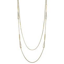 J by Jasper Conran - Designer shell droplet multi row necklace