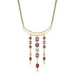 J by Jasper Conran - Designer multi crystal droplet necklace