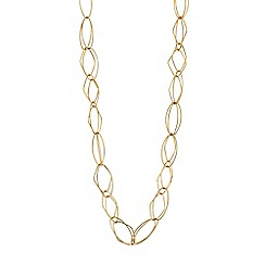J by Jasper Conran - Gold geometric link long necklace