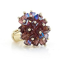 J by Jasper Conran - Purple cube cluster ring