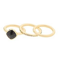 J by Jasper Conran - Designer semi precious effect stacker ring set
