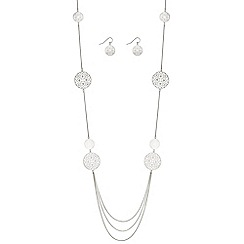 J by Jasper Conran - Designer filigree disc jewellery set