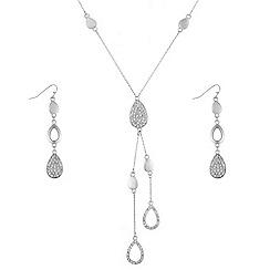 J by Jasper Conran - Designer pave peardrop jewellery set