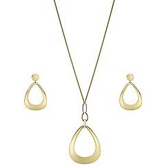 J by Jasper Conran - Designer organic peardrop jewellery set