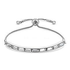 J by Jasper Conran - Designer silver crystal toggle bracelet