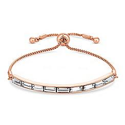 J by Jasper Conran - Designer rose gold crystal toggle bracelet