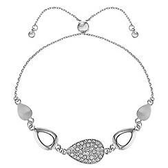 J by Jasper Conran - Designer pave peardrop bracelet