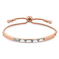 J by Jasper Conran - Rose gold crystal embellished toggle bracelet
