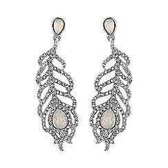 No. 1 Jenny Packham - Designer feather drop earring