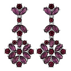 No. 1 Jenny Packham - Designer tonal purple crystal cluster earrings