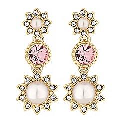 No. 1 Jenny Packham - Designer blush pearl drop earrings