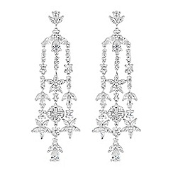 No. 1 Jenny Packham - Designer daisy leaf drop earrings