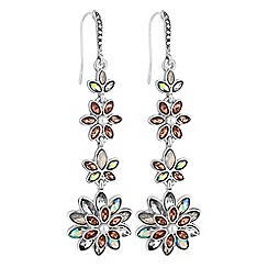 No. 1 Jenny Packham - Designer floral drop earrings
