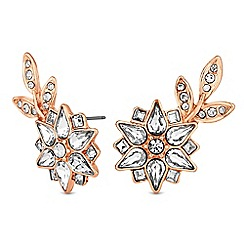 No. 1 Jenny Packham - Designer crystal flower statement earrings