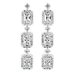 No. 1 Jenny Packham - Designer baguette crystal drop earrings
