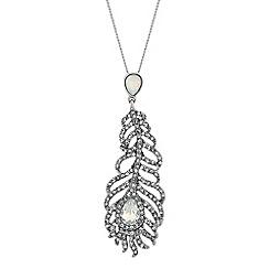 No. 1 Jenny Packham - Designer silver feather necklace